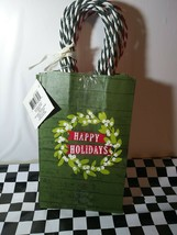 """Celebrate it holiday gift bags   5 1/4"""" X 8.5"""" pack of 10. 5 plaid 5 hol... - $9.49"""