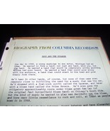 Iggy And The Stooges Raw Power 1973 Columbia Records Press Release with ... - $149.99