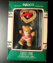 Enesco Christmas Ornament 1989 Lucy and Me Christmas 1989 Swinging Bear Boxed - $10.99