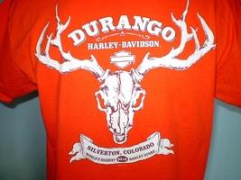 Harley davidson orange t shirt large silverton  colorado 5 thumb200
