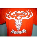 Harley-Davidson Orange T-Shirt Large Silverton, Colorado - $20.00