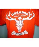 Harley-Davidson Orange T-Shirt Large Silverton, Colorado - $20.00