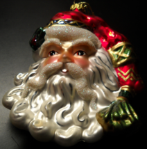 Fitz and Floyd Christmas Ornament Jolly Old Saint Nicholas Santa Head Boxed - $16.99