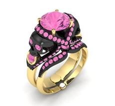 Skull Engagement Ring 14 KT Temple of the Ancie... - $1,995.00