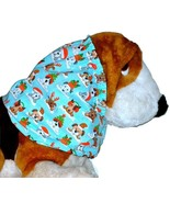 Blue Christmas Holiday Puppies Sparkle Cotton Dog Snood by Howlin Hounds... - $12.50