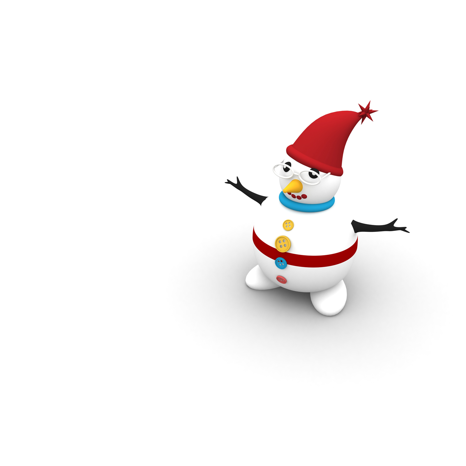 3 Snowman Character -Digital Clipart-Christmas-Card