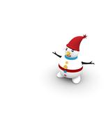 3 Snowman Character -Digital Clipart-Christmas-... - $3.00