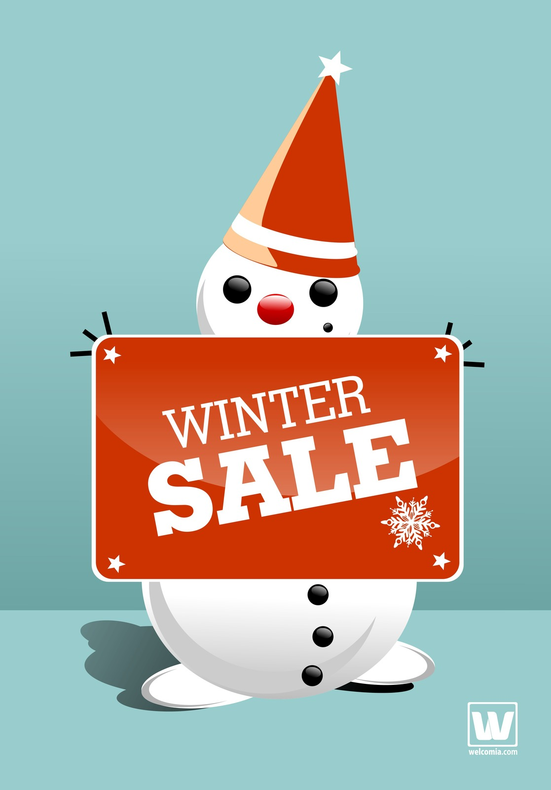 Winter Snowman -Digital Clipart-Christmas