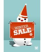 Winter Snowman -Digital Clipart-Christmas - $3.00