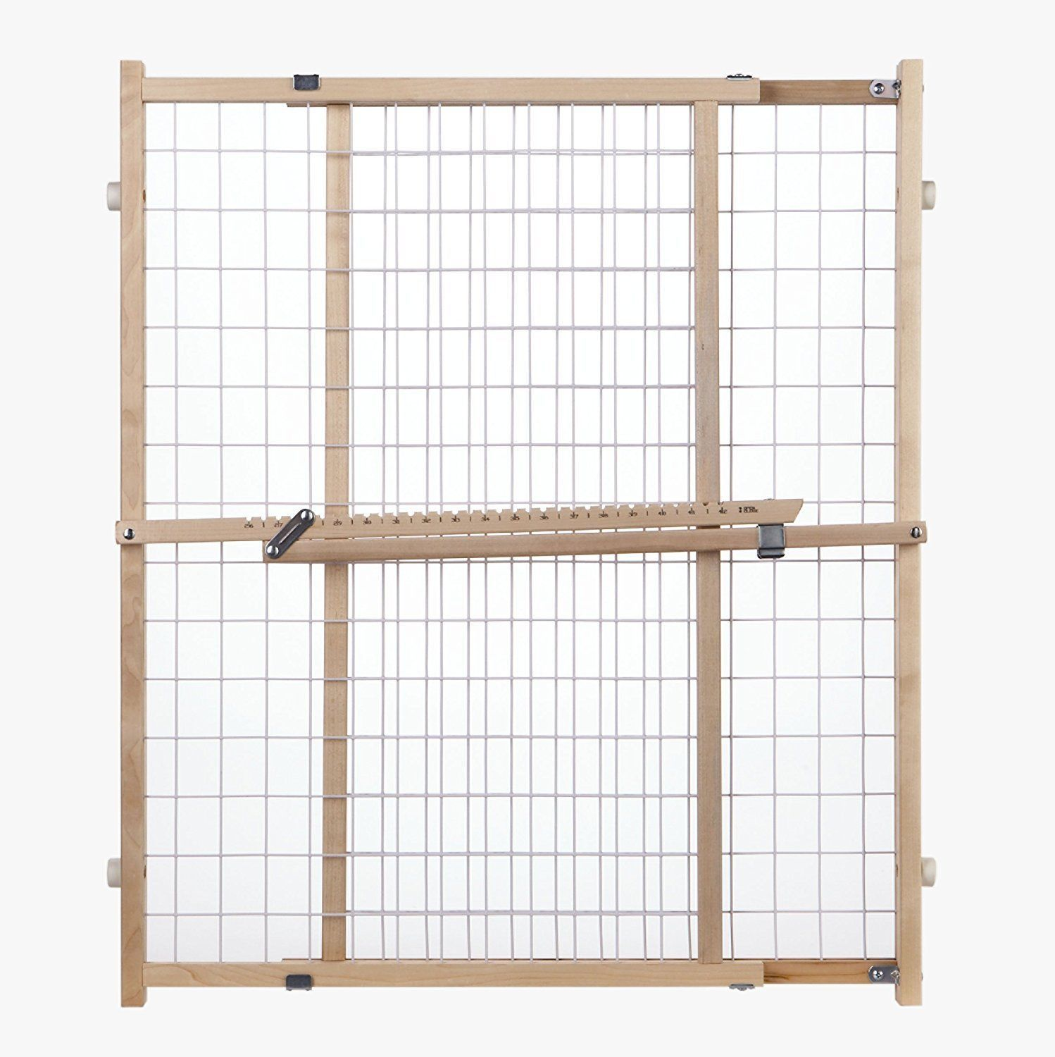 Evenflo Position & Lock™ Gate, Clear Wood/White Mesh - 202