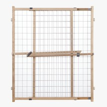 Evenflo Position & Lock™ Gate, Clear Wood/White Mesh - 202 - $35.09