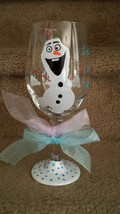 Olaf Inspired Painted Wine Goblet - $15.00