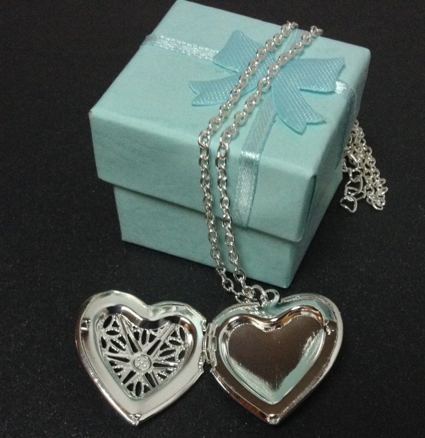 Sterling Silver Heart Locket Necklace 925 NWT Gift Box Included Free Shipping