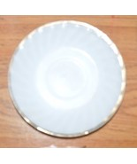 Fire King Ware Saucer White with Gold Edge Vintage - $1.99