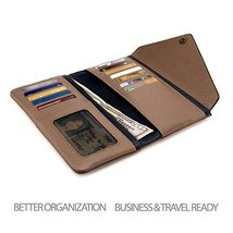 Otto Angelino Genuine Leather Envelope Wallet with Phone Compatible Slots - RFID image 4
