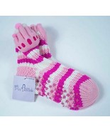 MISS ATTITUDE NWT WOMENS ADULT YOUTH KNIT PINK PRINCESS CROWN SOCKS ONE ... - £4.83 GBP
