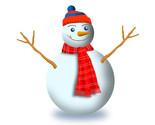 Snowman with scarf and beanie zk8  n8o thumb155 crop