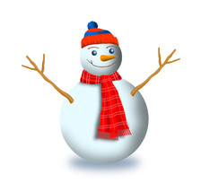 Snowman with scarf and beanie zk8  n8o thumb200