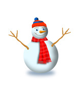 3 Snowman with Scarf and Beanie -Digital Clipar... - $3.00