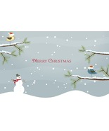 4 Vector Snowman with Background D-Digital Clip... - $3.85