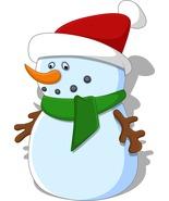 Cartoon Snowman B-Digital Clipart-Christmas-Card - $4.00