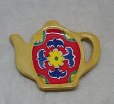 Vintage Tea Pot Shaped Spoon Rest // Tea Bag Rest by GANZ - $6.00