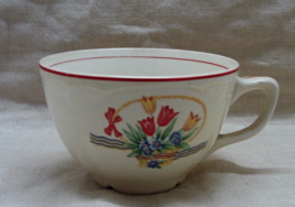 Vintage Homer Laughlin Virginia Rose Tulips in Basket Creamer Dish // Cup //Bowl image 4
