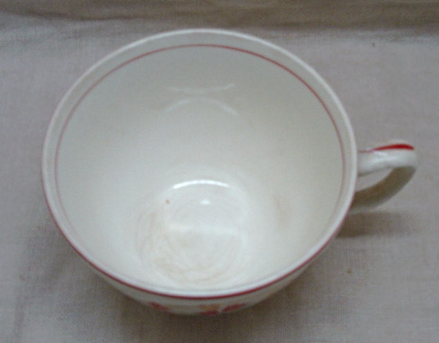 Vintage Homer Laughlin Virginia Rose Tulips in Basket Creamer Dish // Cup //Bowl image 5