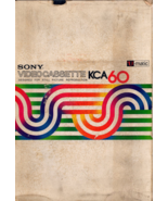 Sony Video Cassette KCA 60 - $4.95