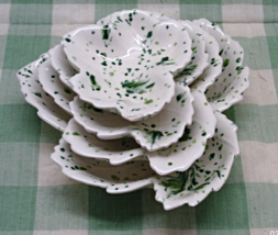 Vintage Mid Century Nesting Maple Leaf Pottery ... - $18.00