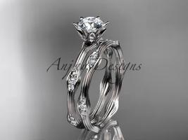 Platinum  diamond wedding ring, engagement ring, engagement set ADLR132S - $1,995.00