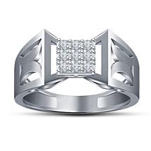 White Created Diamond 14k Platinum Fn Solid Silver 925 Wedding Nine Ston... - £74.89 GBP