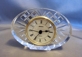 Beautiful Staiger, Germany  Oval Shaped Quartz Crystal Glass Clock - $8.00