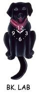 Pink Cloud Black Lab Labrador Dog Puppy Pendulum Wall Clock - $41.99