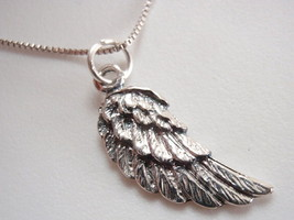 Winged Necklace 925 Sterling Silver Corona Sun Jewelry flight bird feather - $14.97