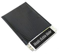 100 13.75x11 Black Metallic Glamour Bubble Mailer Padded Plastic Envelop... - $107.17