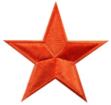 Star hippie 70s retro disco fab superstar applique iron-on patch new S-145 - $2.98