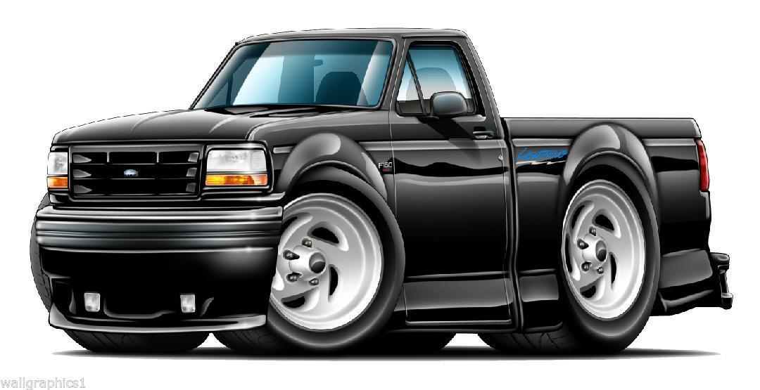 1993 95 ford lightning svt truck wall graphics decals stickers man cave garage graphics decals. Black Bedroom Furniture Sets. Home Design Ideas