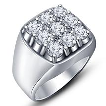 New Style 14k Platinum Fn Solid Sterling Silver White Diamond Men's Nine... - £72.66 GBP
