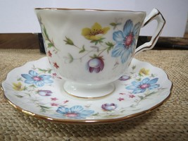 Aynsley Cup and Saucer - Floral pattern - Lots of Gold Trim - $35.00