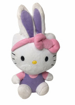 "TY Hello Kitty Easter Bunny Ears Rainbow Plush Beanie Babie 8"" 2013 - $13.81"