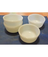 Dessert of Pudding Bowls (4) White Anchor Hocking - $1.49