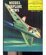 MODEL AIRPLANE NEWS Magazine April 1954 many vintage ads - $9.89