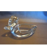 Vintage Crystal Duck Ashtray W/Cut Flat Bottom  Excellent Condition - $6.99