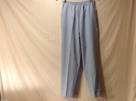 LT by Liz Thomas Light Blue 100% Polyester Elastic Waist Pants, size 12
