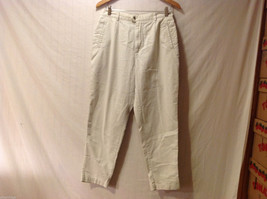 L.L.Bean Womens Off White / Cream Color Khaki Pants, size 12