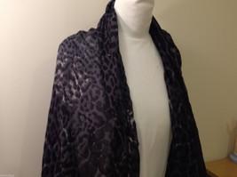 Rectangle Jaguar or Cheetah Print 100% Polyester Gray Black Scarf Wrap - NEW image 3