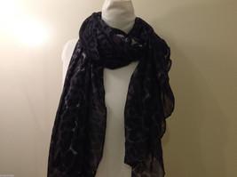 Rectangle Jaguar or Cheetah Print 100% Polyester Gray Black Scarf Wrap - NEW image 4