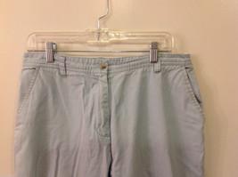 Woolrich Women's Size 12 Straight Leg Pants Light Mint Green Trousers Slacks image 2