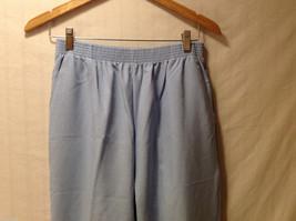 LT by Liz Thomas Light Blue 100% Polyester Elastic Waist Pants, size 12 image 3